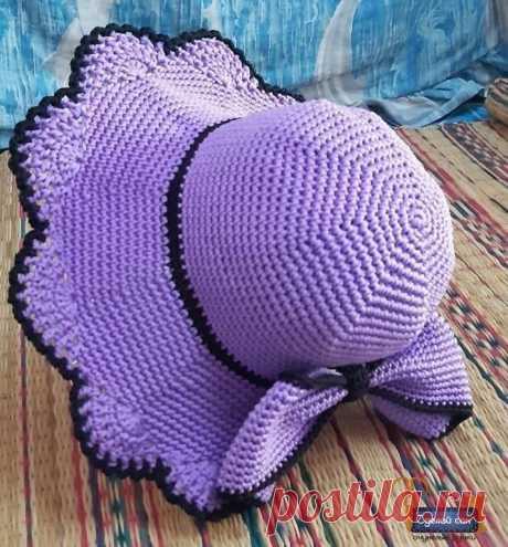 Вяжем очаровательную шляпу