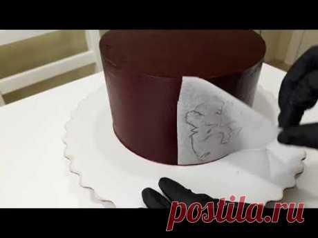 Рисунок на ганаше. Ганаш для покрытия торта, рецепт