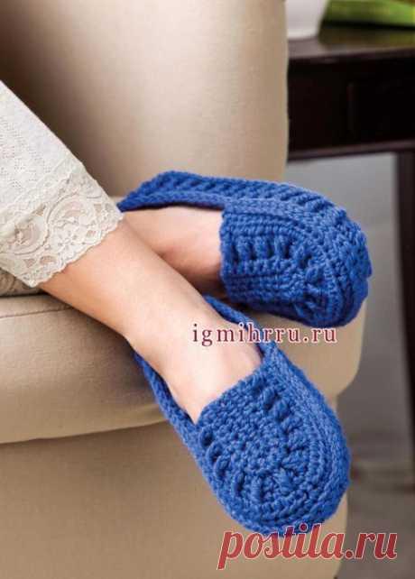 Домашние тапочки-слипперы, от дизайнера Dora Ohrenstein. #вязание #вязание_крючком #тапочки #вязаные_тапочки #тапочки_крючком #вязаная_обувь #тепло_для_ножек #уютные_вещи #лоскутик_и_облако   Размеры: S - 10 см в ширину и 20 см в длину, М - 10 см в ширину и 23 см в длину, L - 11 см в ширину и 25 см в длину.   Вам потребуется: 1 моток пряжи (шерсть, 200 м/100 г); крючок № 5.   Техника вязания: возд. п., ст. б/н, соед. ст., полуст. с/н, выпуклый ст. б/н.   Группа (Гр): удерж...