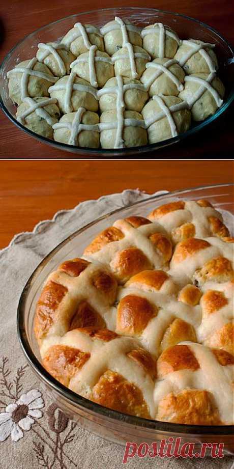 Пасхальные булочки - Пошаговый рецепт с фото