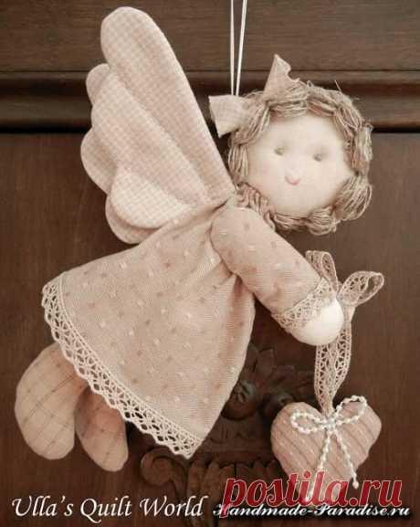 Текстильный ангелочек. МК.