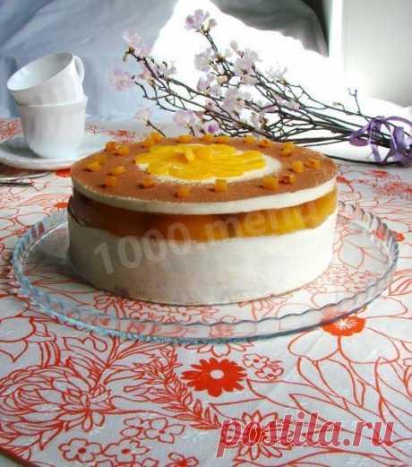 Торт Нежный персик с желатином рецепт с фото пошагово - 1000.menu