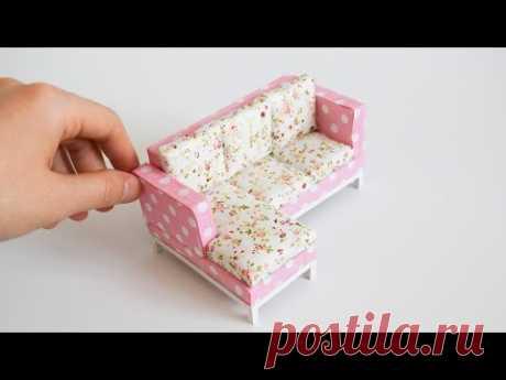 Minyatür Köşe Koltuk Yapımı | Kendin Yap Barbie Köşe Koltuk Yapımı
