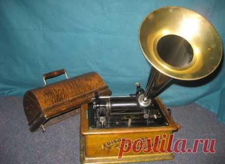 Первая демонстрация фонографа Томаса Эдисона