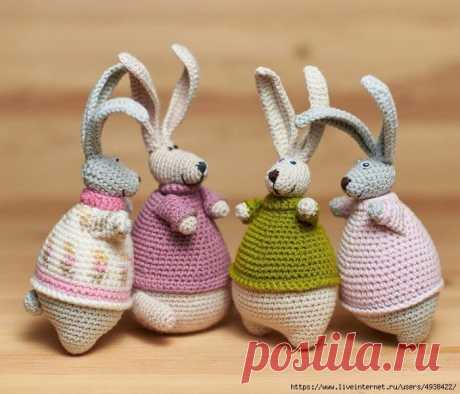 Заяц-толстун - хороший подарок на Пасху!