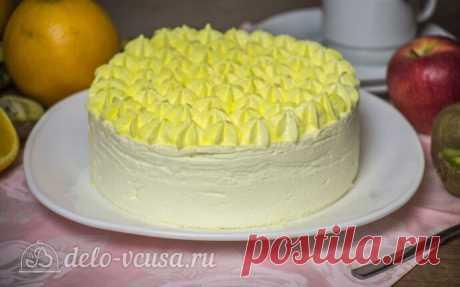 Муссовый торт Летний персик, пошаговый рецепт с фото