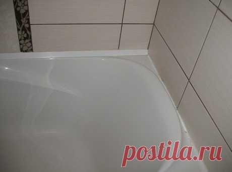 Как заделать щель между ванной и стеной: решения для разных размеров щелей