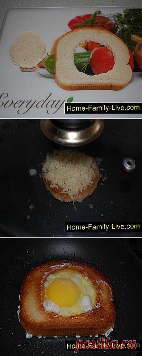 Яичница в гренке