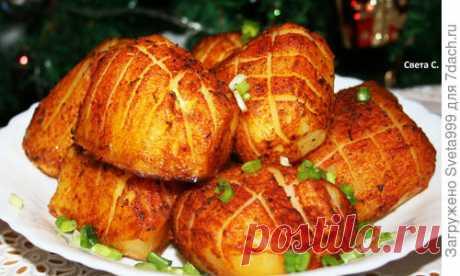 """Запеченный картофель """"Сибирский ананас"""". Рецепт приготовления с пошаговыми фотографиями"""