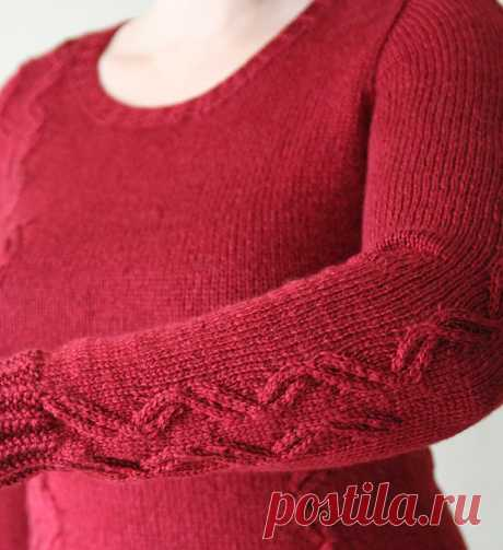 How to knit a set-in sleeve from above - a master class - Modnoe Vyazanie ru.com