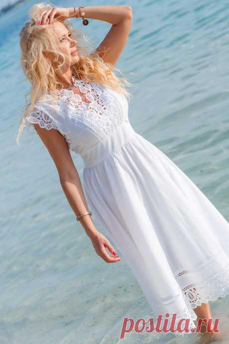 Платье Vesnaletto 1988 белый - Интернет-магазин Presli.by