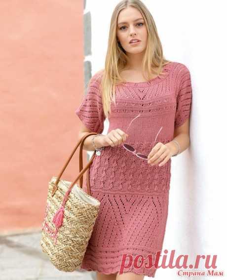 . Розовое женское платье - Вязание - Страна Мам