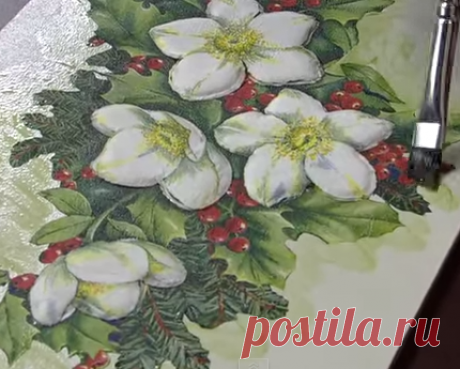 3D decoupage or giving of volume to details of the picture