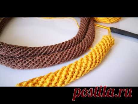 Hapishane İşi Çanta Sapı Yapımı/Crochet Spiral Rope - YouTube