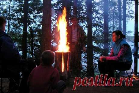 Как правильно развести «финскую свечу», которой не страшны ни дождь, ни снег, ни ветер