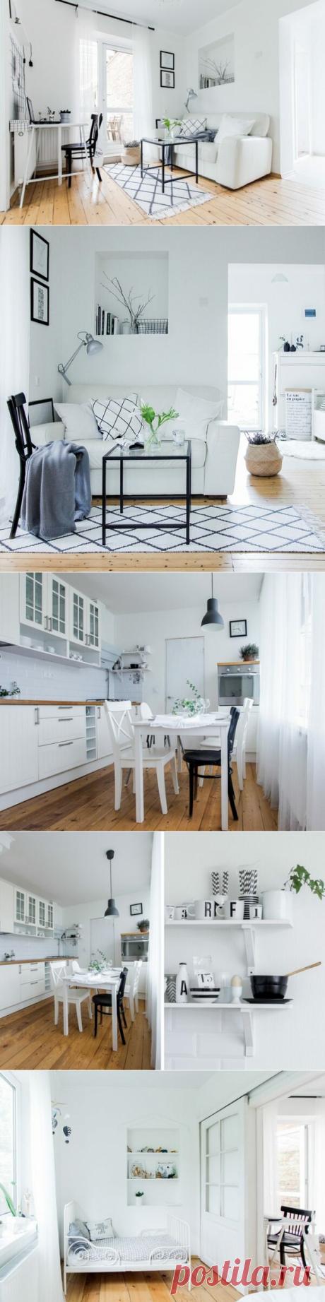 Скандинавский интерьер на 35 квадратных метрах | flqu.ru - квартирный вопрос. Блог о дизайне, ремонте