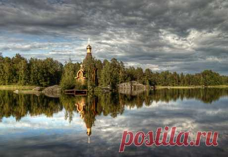 Русская церковь сказочной красоты - храм Андрея Первозванного на Вуоксе