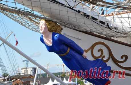 Как появились носовые скульптуры на кораблях, и для чего они были предназначены ..