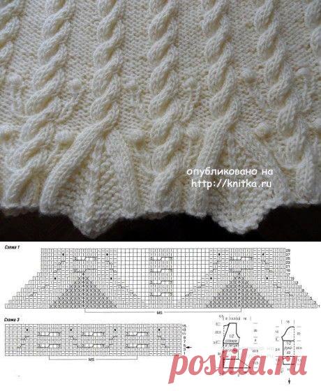 Женский пуловер с аранами. Работа Светланы Шевченко, Вязание для женщин