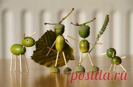 Осеннее настроение. Поделки из природных материалов на тему осени - ZonaObzora