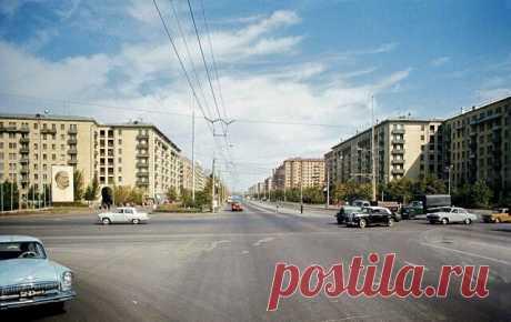 Комсомольский проспект, 1971 год.
