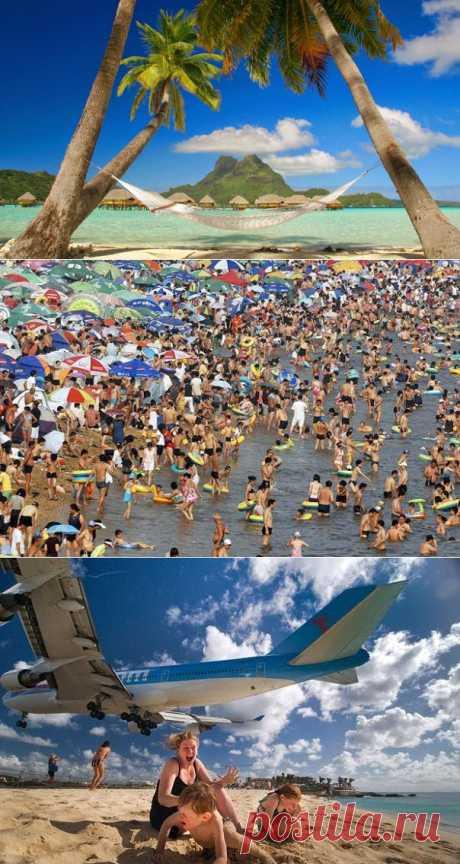 InVkus: 6 пляжей, на которых лучше не отдыхать.  Ласковая волна накатывает на берег, утягивая обратно с белой пеной причудливую ракушку. В прозрачных водах снуют яркие рыбешки. Яркое солнце нагревает чистейший белый песок, и вы быстрыми шагами идете в изумрудное море… Именно такую картину представляет себе каждый усталый гражданин накануне долгожданного отпуска.