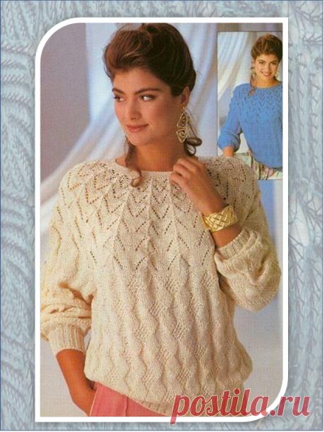 Два простых вязанных на спицах пуловера с акцентом на кокетку | Embroidery art | Яндекс Дзен