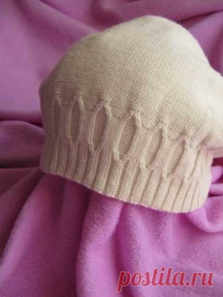 Симпатичная шапочка из категории Интересные идеи – Вязаные идеи, идеи для вязания