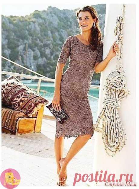 Летнее платье, связанное крючком: на зависть всем