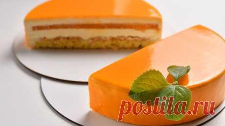 Муссовый торт мандарин с зеркальной глазурью – пошаговый рецепт с фотографиями