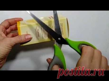Идея из КОРОБОК с ЛЕКАРСТВА и Гофрированной Бумаги своими руками.ЦВЕТЫ БУМАГИ.поделки.подарки DIY