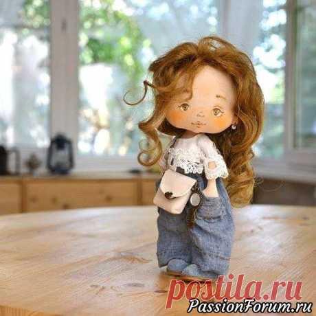 Куклы  с выкройкой от   Юлии Поляковой + бонус шпаргалка по росписи лица   Грунтованный текстиль