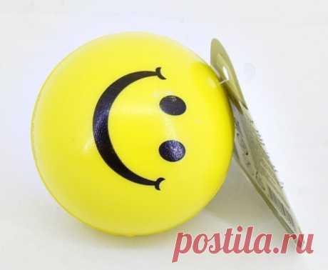 Маленький мягкий мячик Смайлик для малышей оптом в детские сады