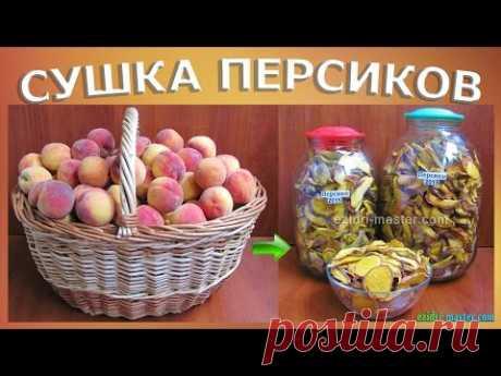 Персики на зиму – Польза персиков – Сушеные персики
