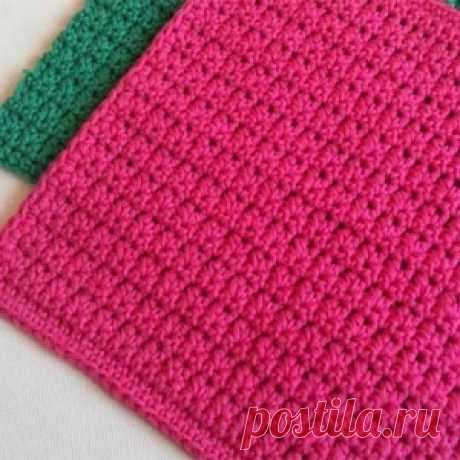 Simple pattern for knitting by a hook
