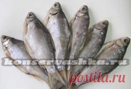 Drying of fish - a taranka