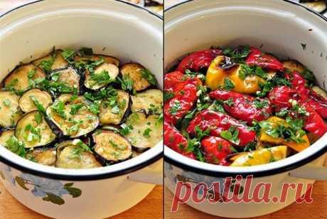 Закуска из маринованных баклажанов и перцев гриль рецепт – закуски. «Еда»