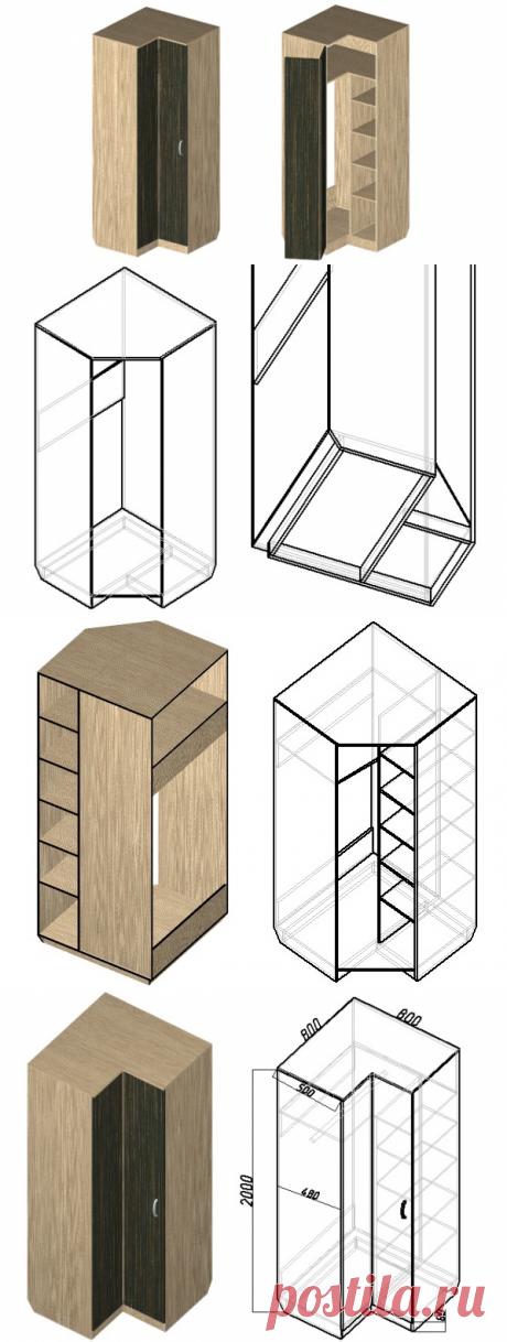 Как сделать угловой шкаф, чертежи и схема расчета деталей. Пошаговая инструкция для самостоятельного проектирования углового шкафа любых размеров