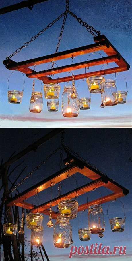 Садовая люстра со свечами: фонарики-подсвечники своими руками | Handmadeidea