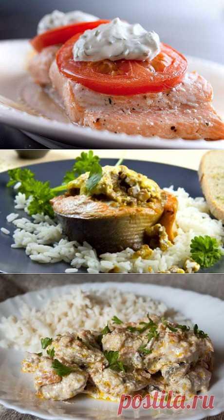 Горбуша в сметане с грибами: 4 рецепта ужина / Простые рецепты