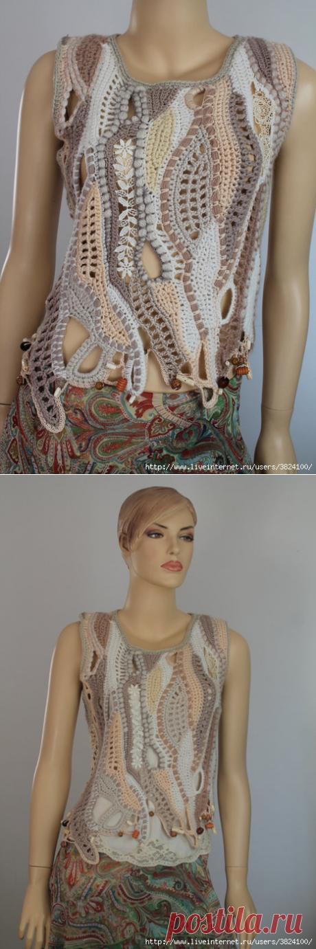 Элементы ажурного фриформа от мастерицы из Израиля Lucy Levintovich