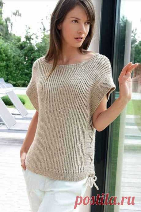 Вяжем летний пуловер