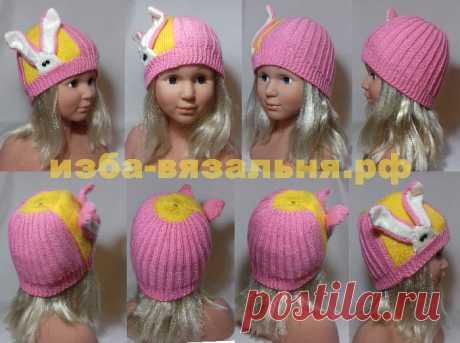 Осенняя или зимняя шапочка с ушками, которые могут выполнять функцию шарфа.  В модели несколько ОЧЕНЬ важных секретов, например, как вязать ушки, чтобы они не сжимались