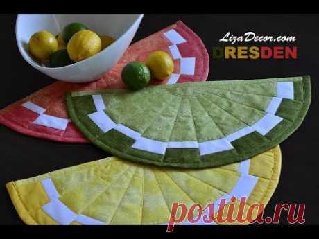 Patchwork tutorial Dresden - Ovocné prostírání. Patchworková pravítka