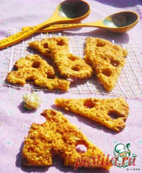 """Печенье """"Ломтики сыра"""" с овсяными хлопьями - кулинарный рецепт"""