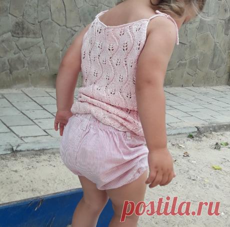 ЛЕТНЯЯ МАЙКА СПИЦАМИ. Как связать детский топ спицами (подробный мастер-класс) | Annetka my_hobbies | Вязание | Яндекс Дзен