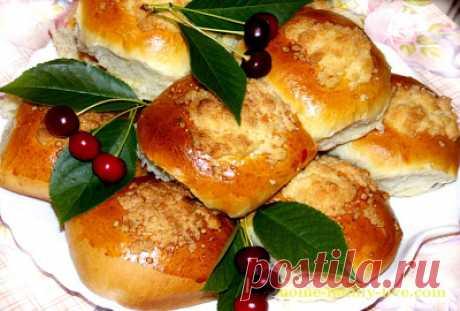 Булочки с вишней/Сайт с пошаговыми рецептами с фото для тех кто любит готовить