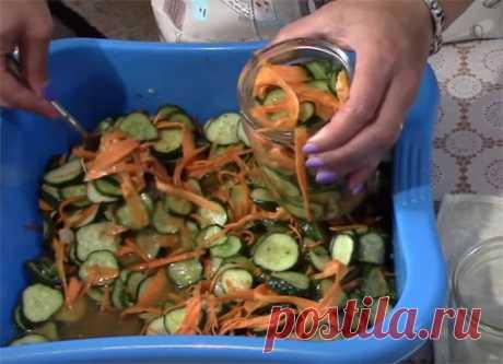 Салаты из огурцов на зиму — простые рецепты