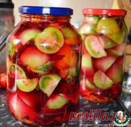"""Суперские зеленые помидоры с яблоками """"100 граммов"""""""