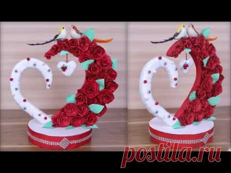 DIY Paper Heart Showpiece    DIY-Gifts Ideas    How to Make  Paper Heart Showpiece   